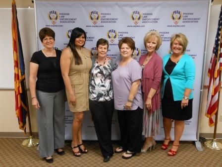 L-R, PLEA office staff: Debbie Webster, Kenia Buckner, Arlene Venturini, Joann Gothard, LeighAnn Bennett, Melissa Sayban